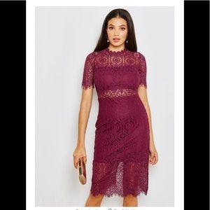 Beautiful deep wine lace dress